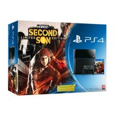 Sony PlayStation 4 500Gb + Игра inFamous Second Son (русская версия)